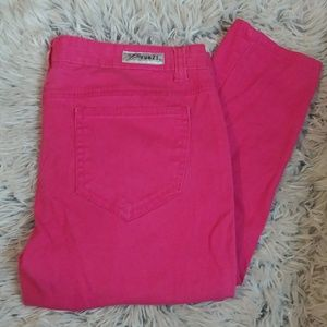 ❤ { RUE 21}   Hot Pink Skinny Jeans
